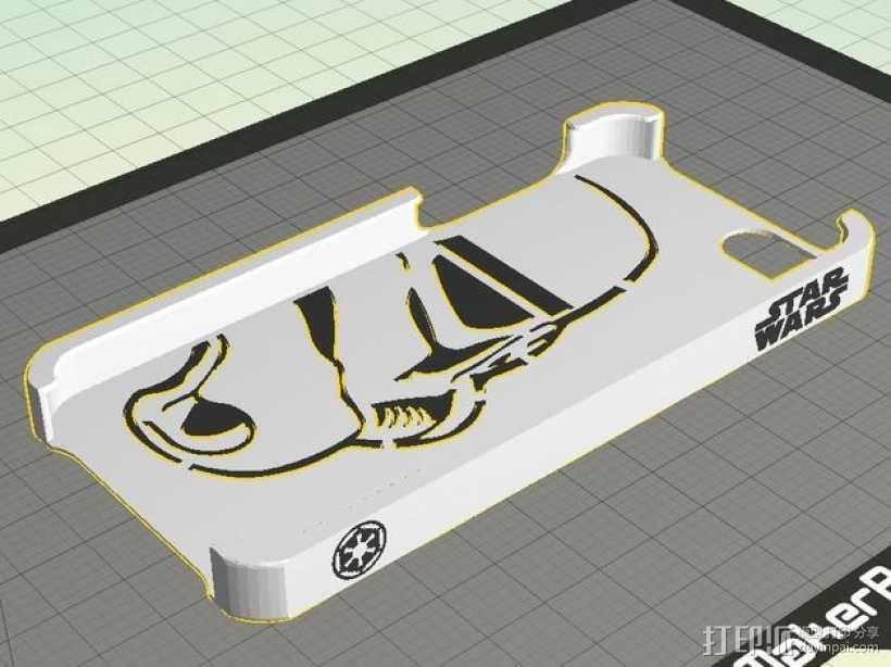 帝国风暴兵iPhone5 手机外壳 3D模型  图1