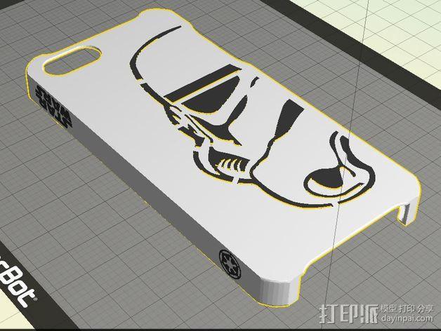 帝国风暴兵iPhone5 手机外壳 3D模型  图2