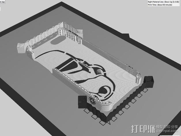 帝国风暴兵iPhone5 手机外壳 3D模型  图6