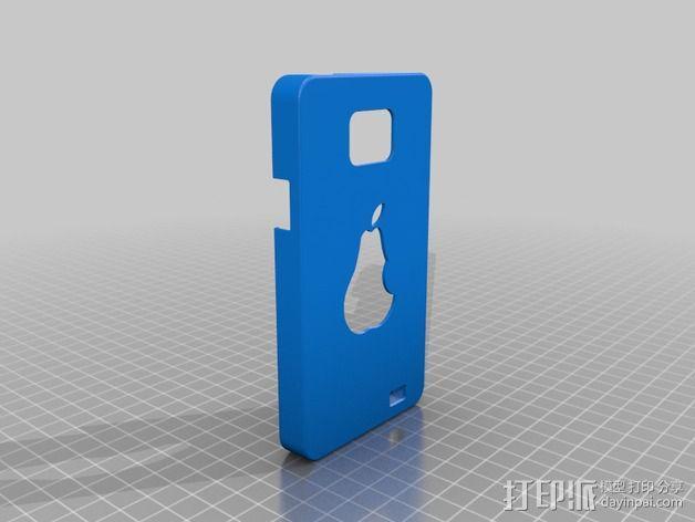 三星galaxy SII :梨形手机套 3D模型  图1