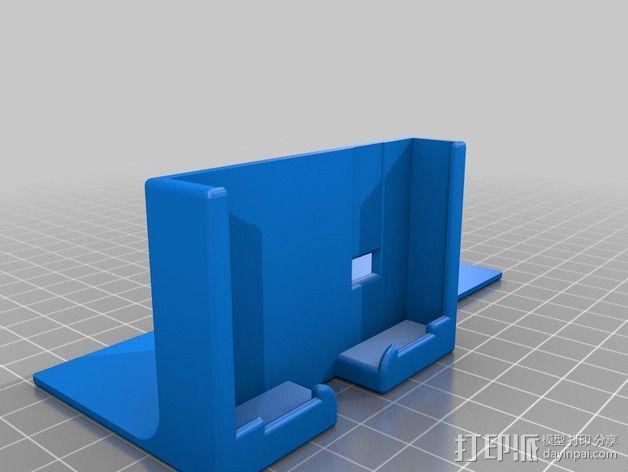 S4 mini手机支架车用CD槽 3D模型  图3