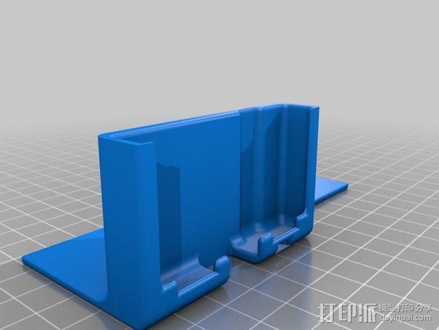 S4 mini手机支架车用CD槽 3D模型  图2