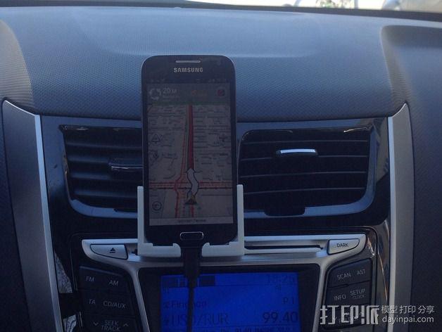 S4 mini手机支架车用CD槽 3D模型  图1