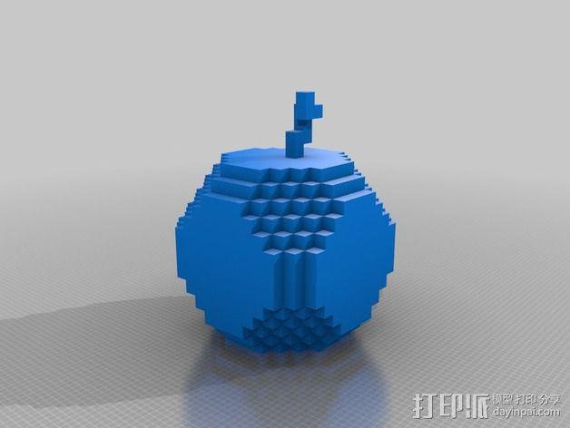 挖矿争霸金苹果 3D模型  图1