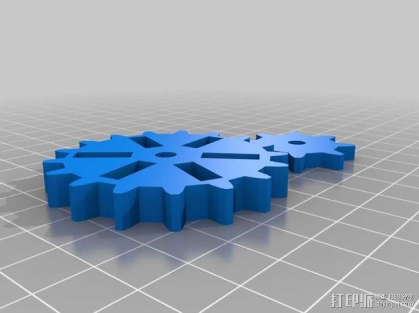 蒸汽朋克齿轮USB 3D模型  图2