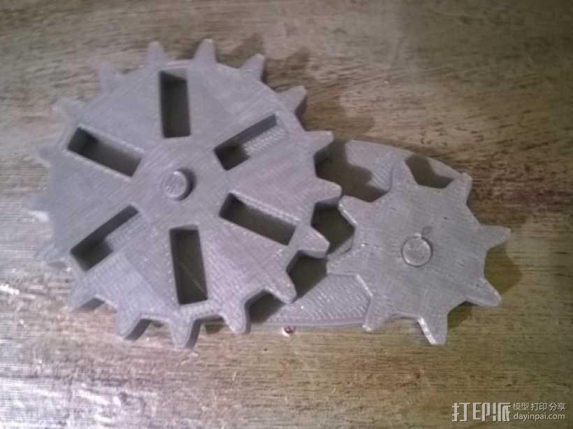 蒸汽朋克齿轮USB 3D模型  图1