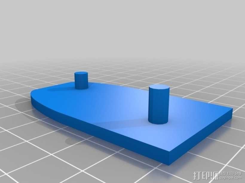 蒸汽朋克齿轮USB 3D模型  图3