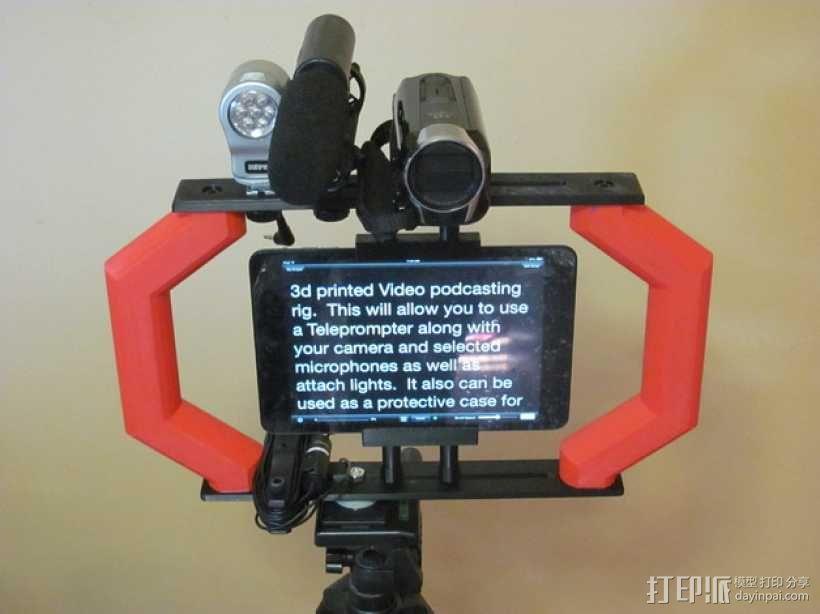 视频播客装备 3D模型  图1