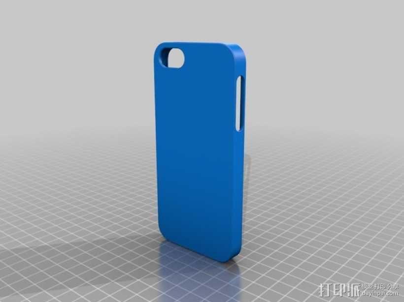 iphone 5s纯色手机套 3D模型  图1