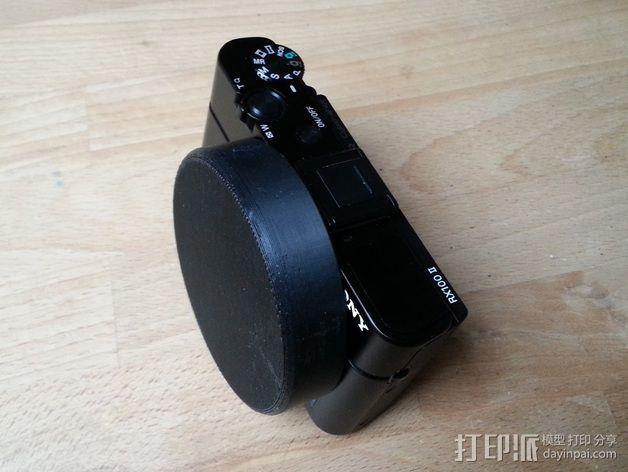 Sony RX100M2相机镜头盖 3D模型  图1