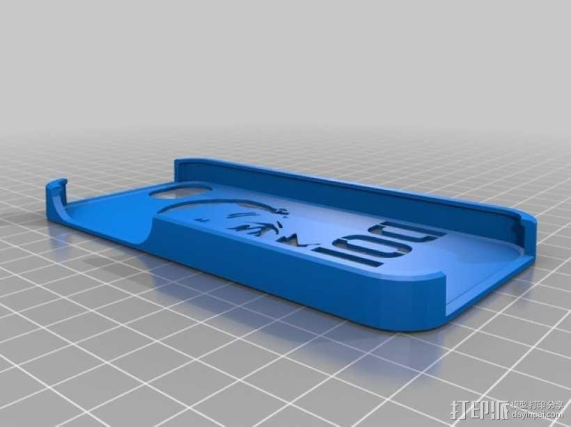 奥巴马头像漏字板 iPhone5手机外壳 3D模型  图2