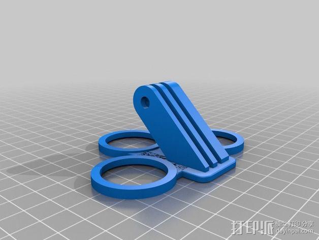 GoPro相机支架 支座  3D模型  图2