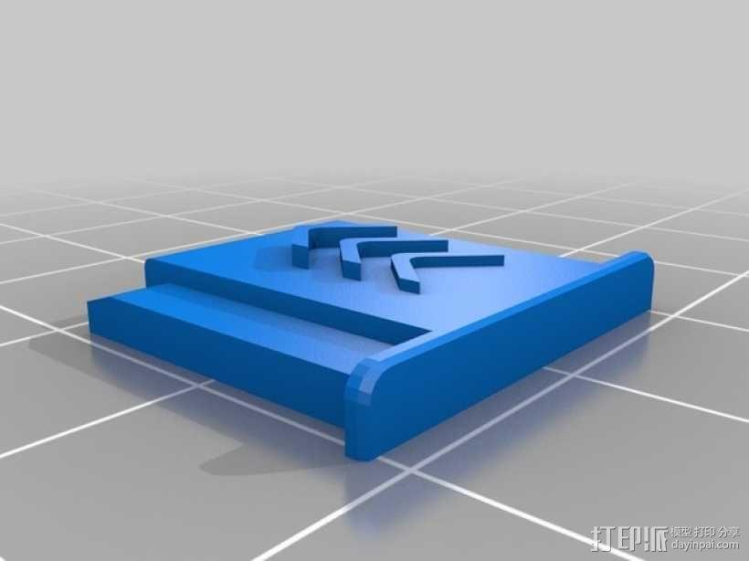 闪光灯热靴盖 3D模型  图1