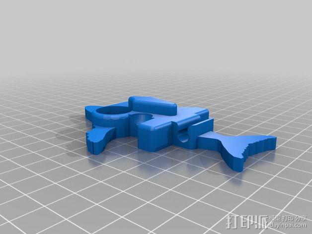 鲸鱼iphone耳塞 3D模型  图2