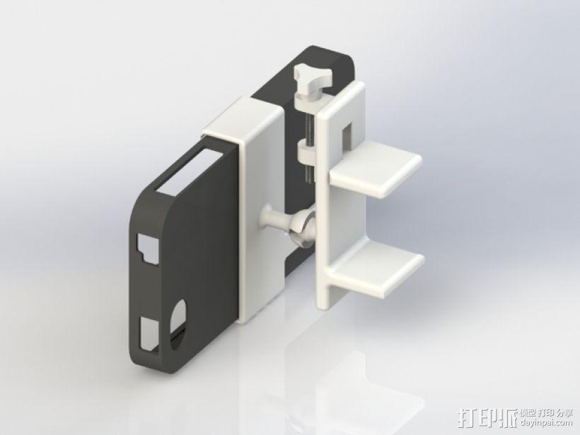 车用(或其他用途)iphone支架 3D模型  图2