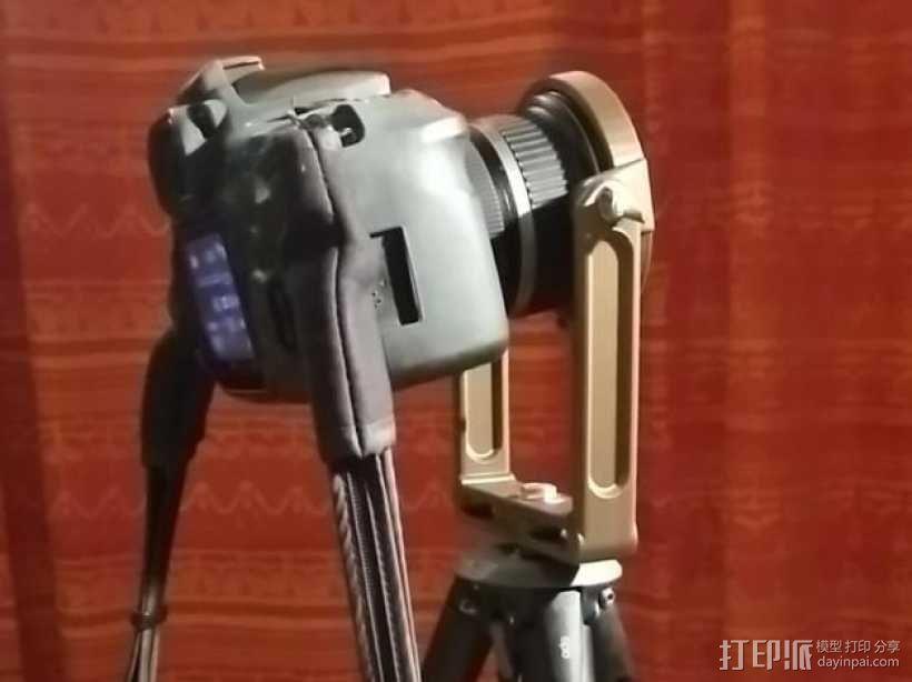 佳能10-22mm镜头360x180全景头、球形头 3D模型  图1