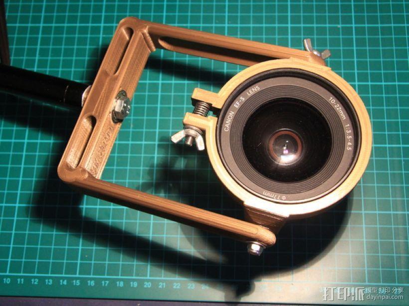 佳能10-22mm镜头360x180全景头、球形头 3D模型  图7