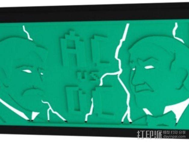 爱迪生和特斯拉 iPhone 5/5S/5C 开放式手机套 3D模型  图1