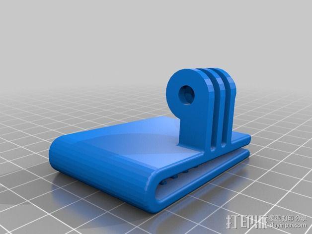 极限运动包带夹 3D模型  图4