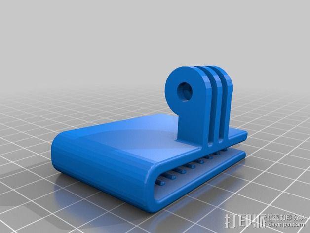 极限运动包带夹 3D模型  图5