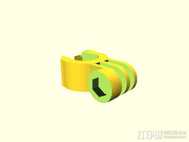 极限运动相机手把 3D模型  图2