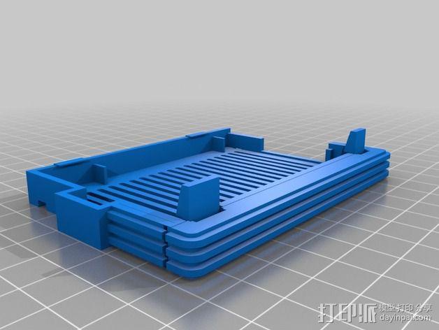 树莓派保护外盒 3D模型  图4