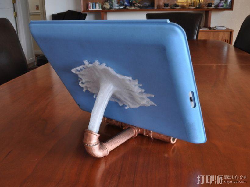 改进版泥点ipad站架 3D模型  图1