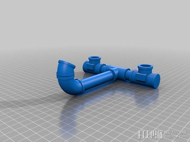 改进版泥点ipad站架 3D模型  图2