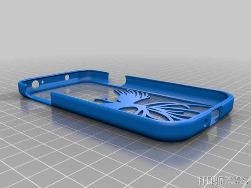 S4龙与凤手机套 3D模型  图1
