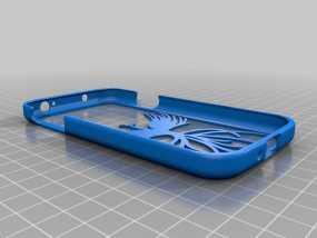 S4龙与凤手机套 3D模型