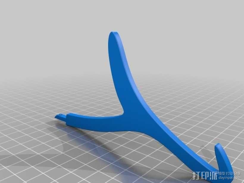 平板站架 3D模型  图2