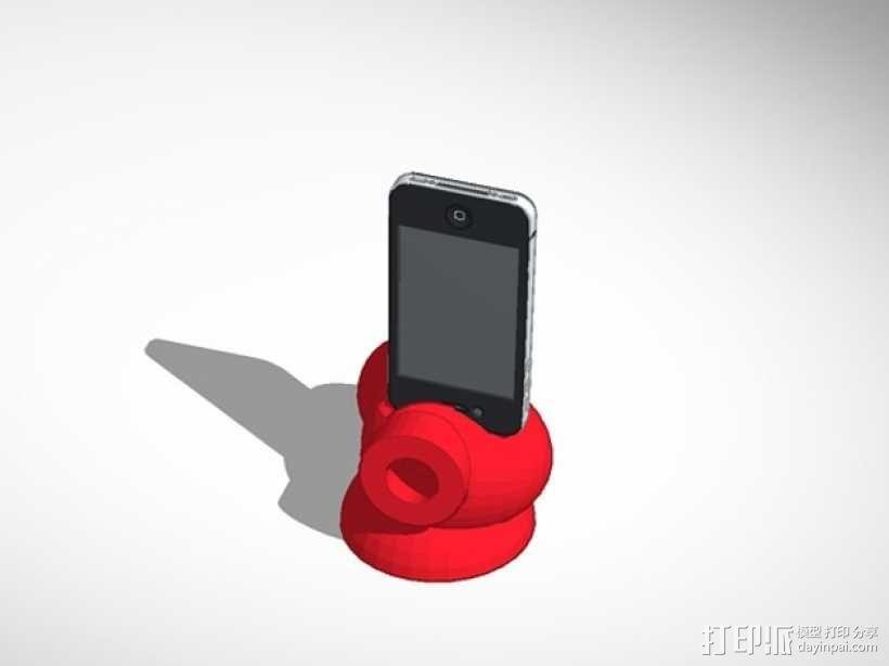 iphone Reddie 音乐扬声助推器 3D模型  图2