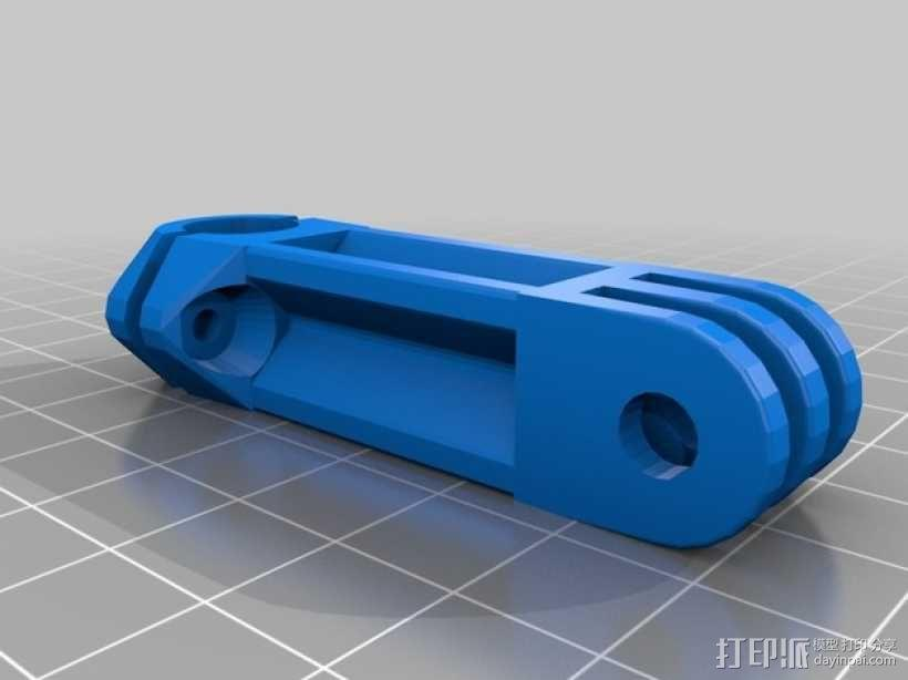 极限运动专用相机Manfrotto灯站架夹钳 3D模型  图2