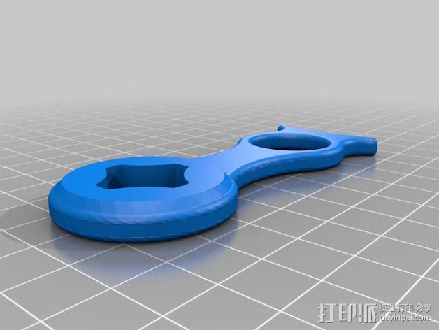 极限运动专用相机指洞扳手 3D模型  图2