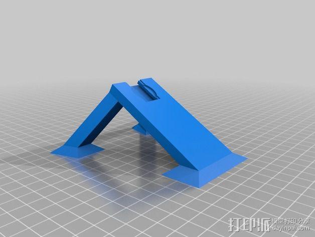 热靴麦克风架 3D模型  图3