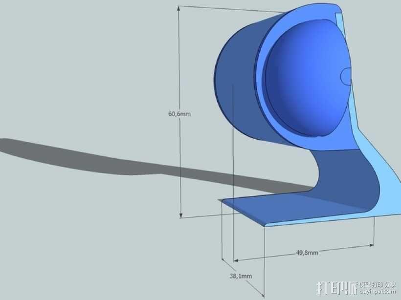 扬声器BR Visaton BF32 v2 3D模型  图4