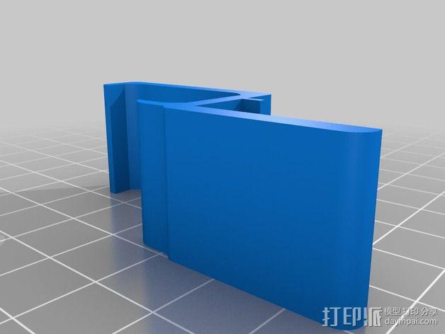 方形读卡器收纳固定器 3D模型  图2