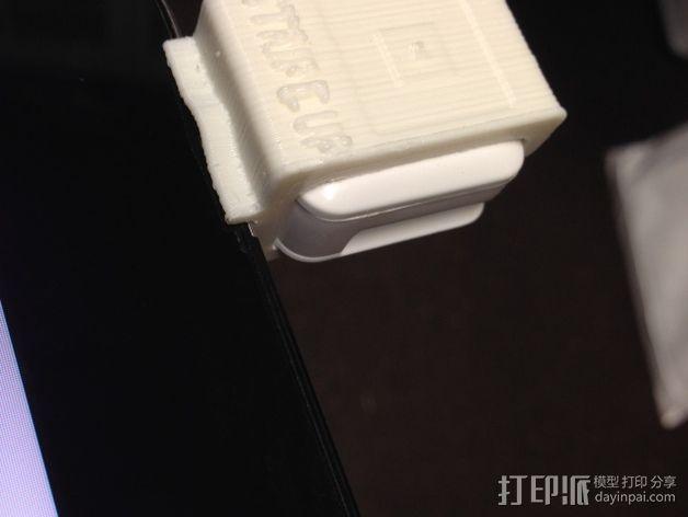 方形读卡器收纳固定器 3D模型  图3
