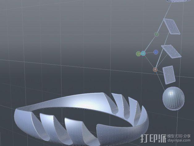 iPad环形站架 3D模型  图3