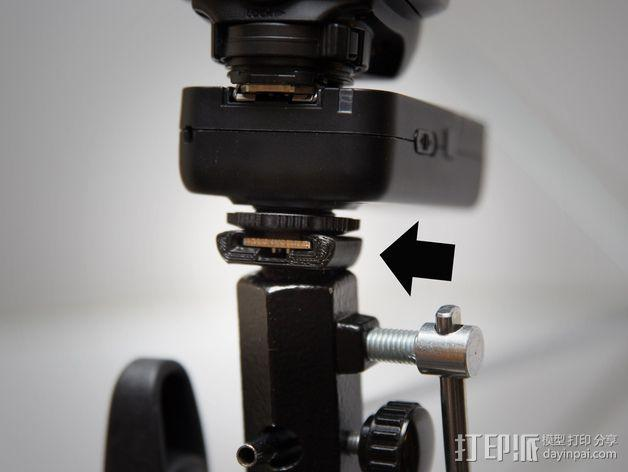 直接接触闪光龙头适配器 3D模型  图3