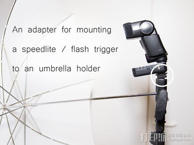 直接接触闪光龙头适配器 3D模型  图2