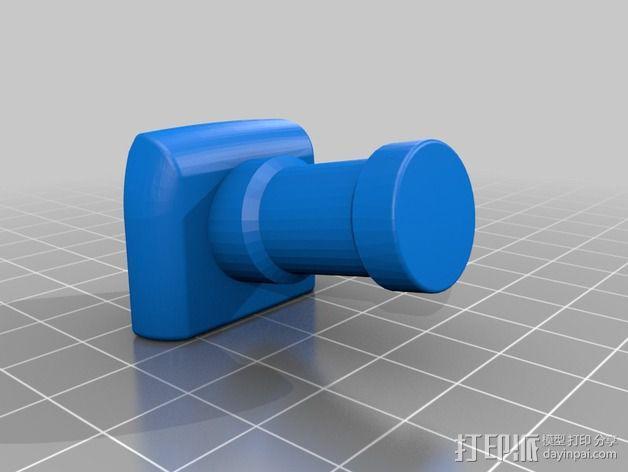 直接接触闪光龙头适配器 3D模型  图5