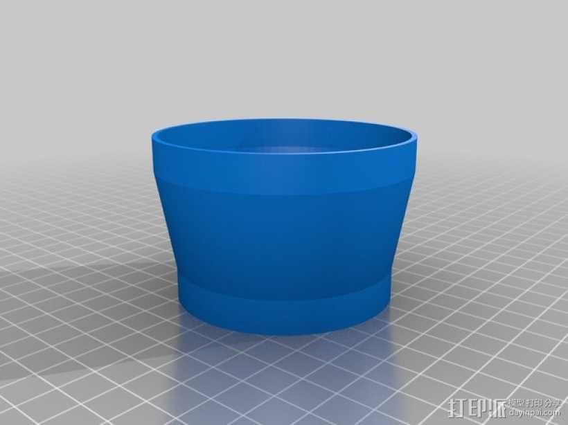 参数化法兰镜头遮光罩 3D模型  图2