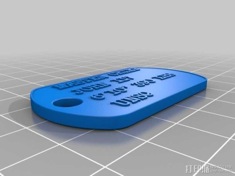 狗狗身份识别器 3D模型  图1