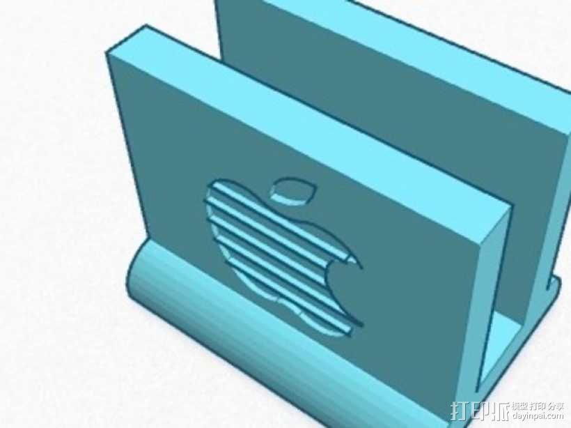 13,3英寸 Mac book站架 3D模型  图1