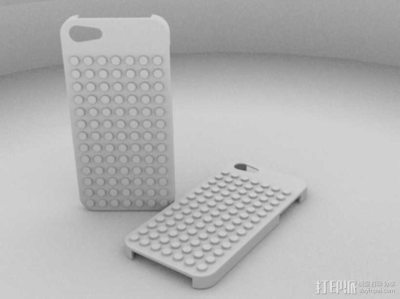 乐高 iphone 5/5s 手机套 3D模型  图1