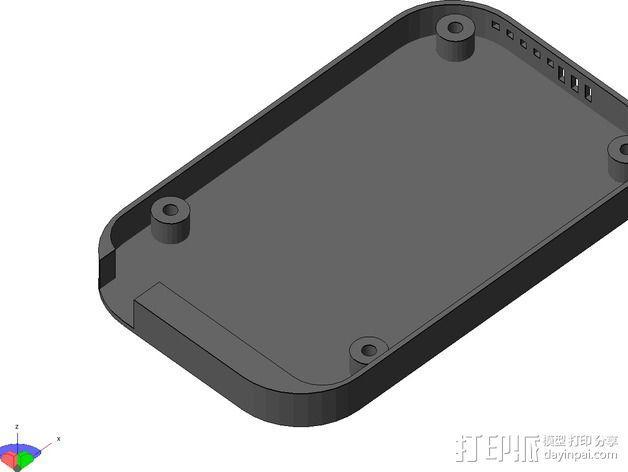 Beaglebone Black 保护套 3D模型  图3