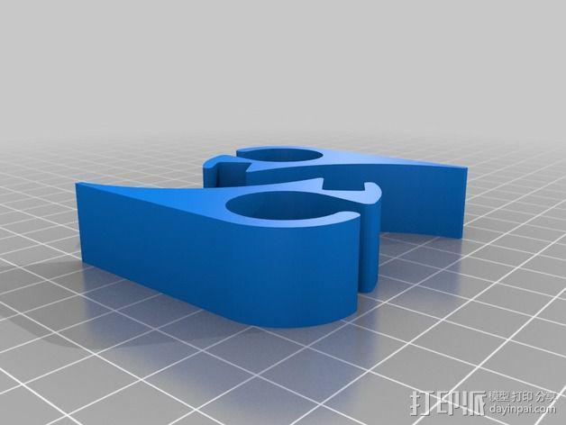 IPAD Mini + Apple 无线键盘底座 3D模型  图2