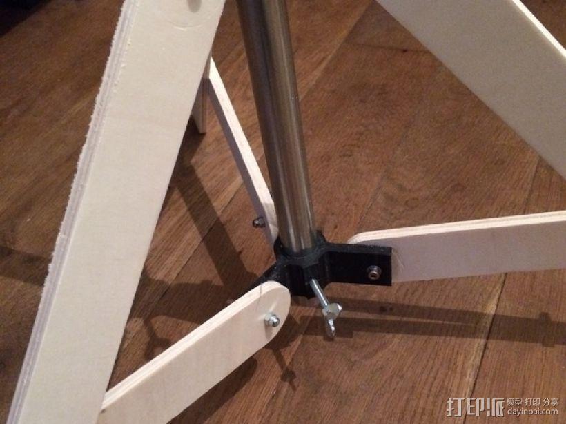 可折叠式三脚架 3D模型  图3