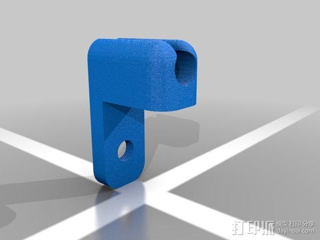 充电数据线固定夹 3D模型  图2